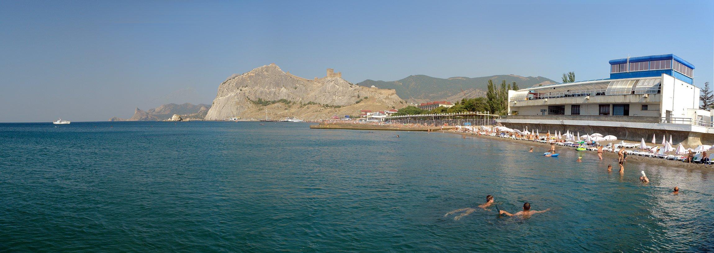 Городской пляж судак фото